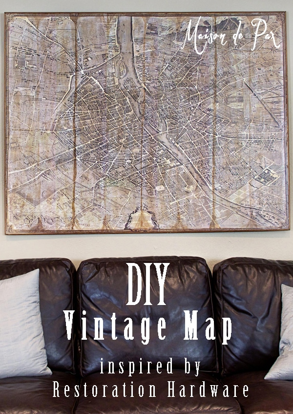 Create your own decoupaged vintage map with this tutorial