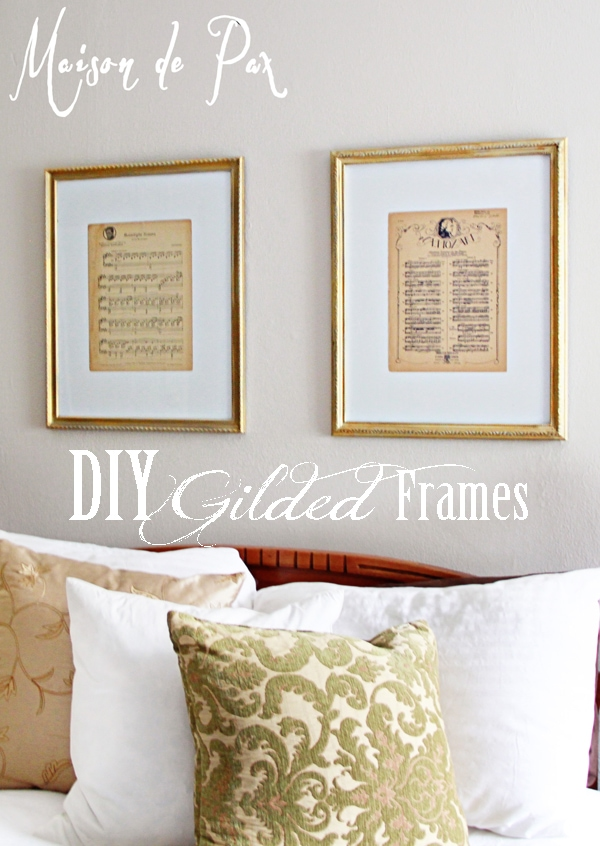 create your own gorgeous, vintage, gilded frames