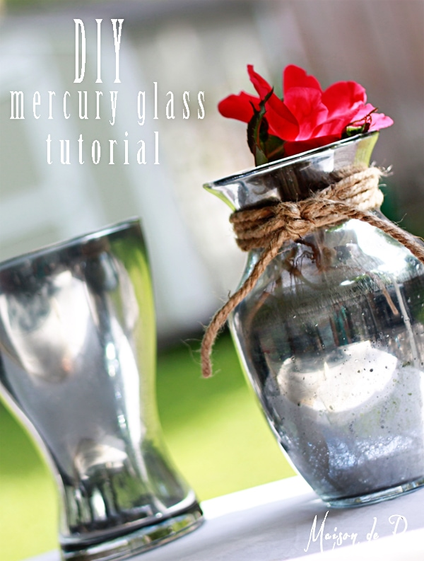 Upcycle boring old glass into gorgeous mercury glass with this easy tutorial