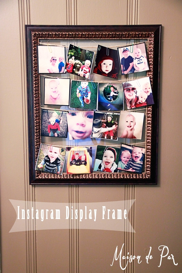 Create your own frame to display your instagram photos!
