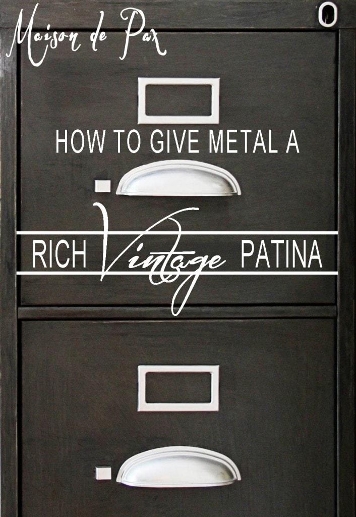 metal vintage patina sign