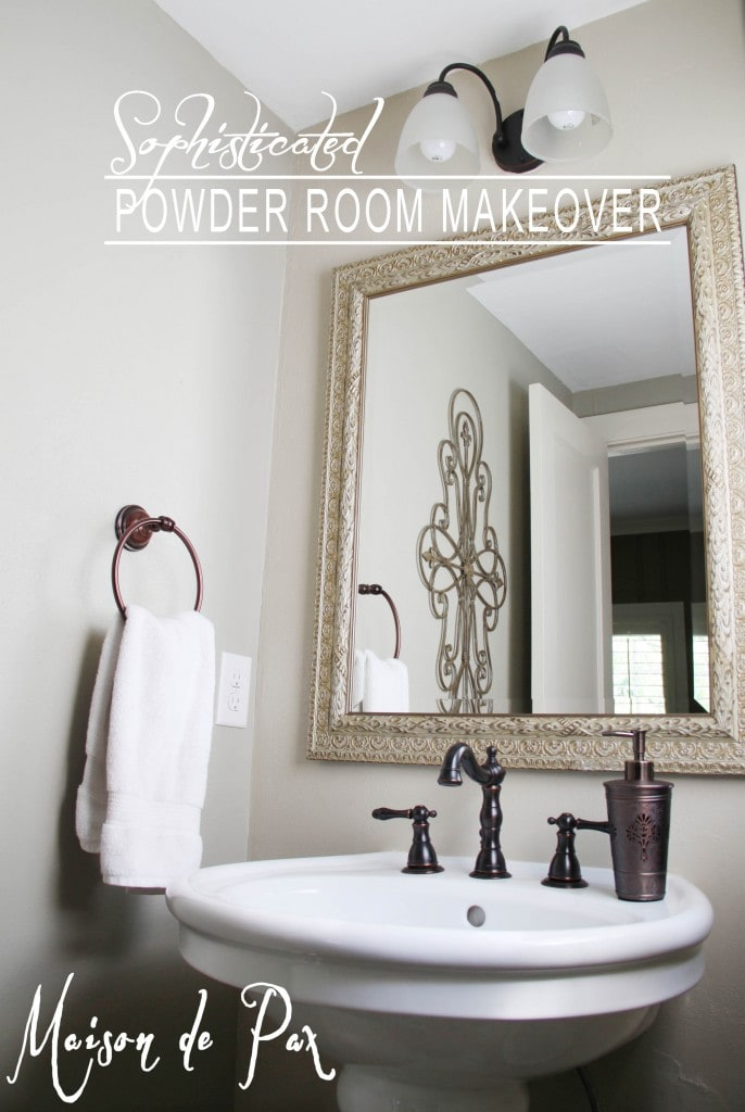 Powder Room Makeover Maison De Pax