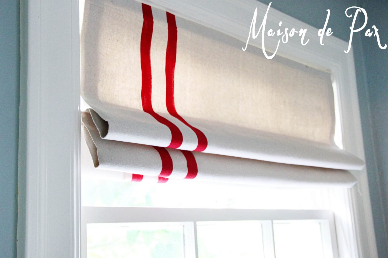 diy mini blinds turned roman shade