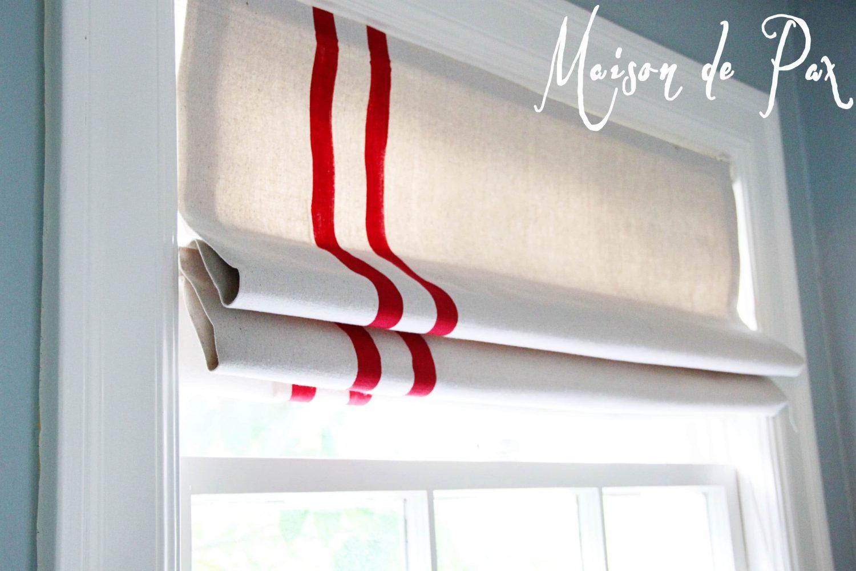 diy mini blinds turned roman shade