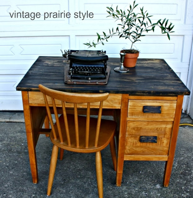 Antique Chair Makeover by Interior Frugalista: - Give Me The Goods {No. 31. Antique  Teacher Desk ... - Antique Teacher Desk Antique Furniture