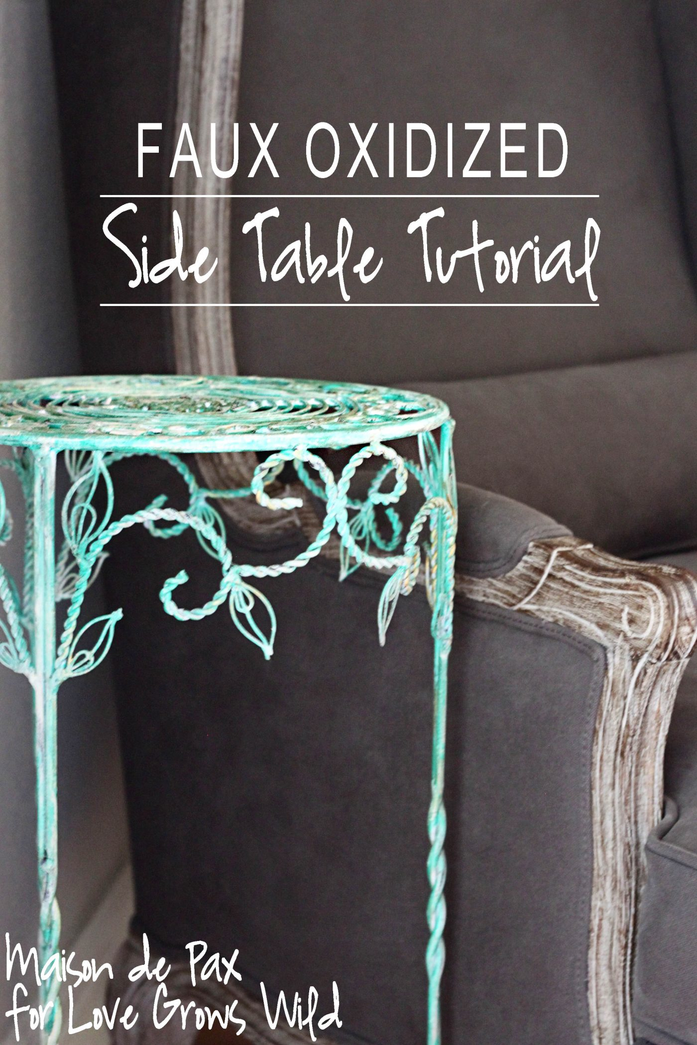 how to tutorial painted accent table