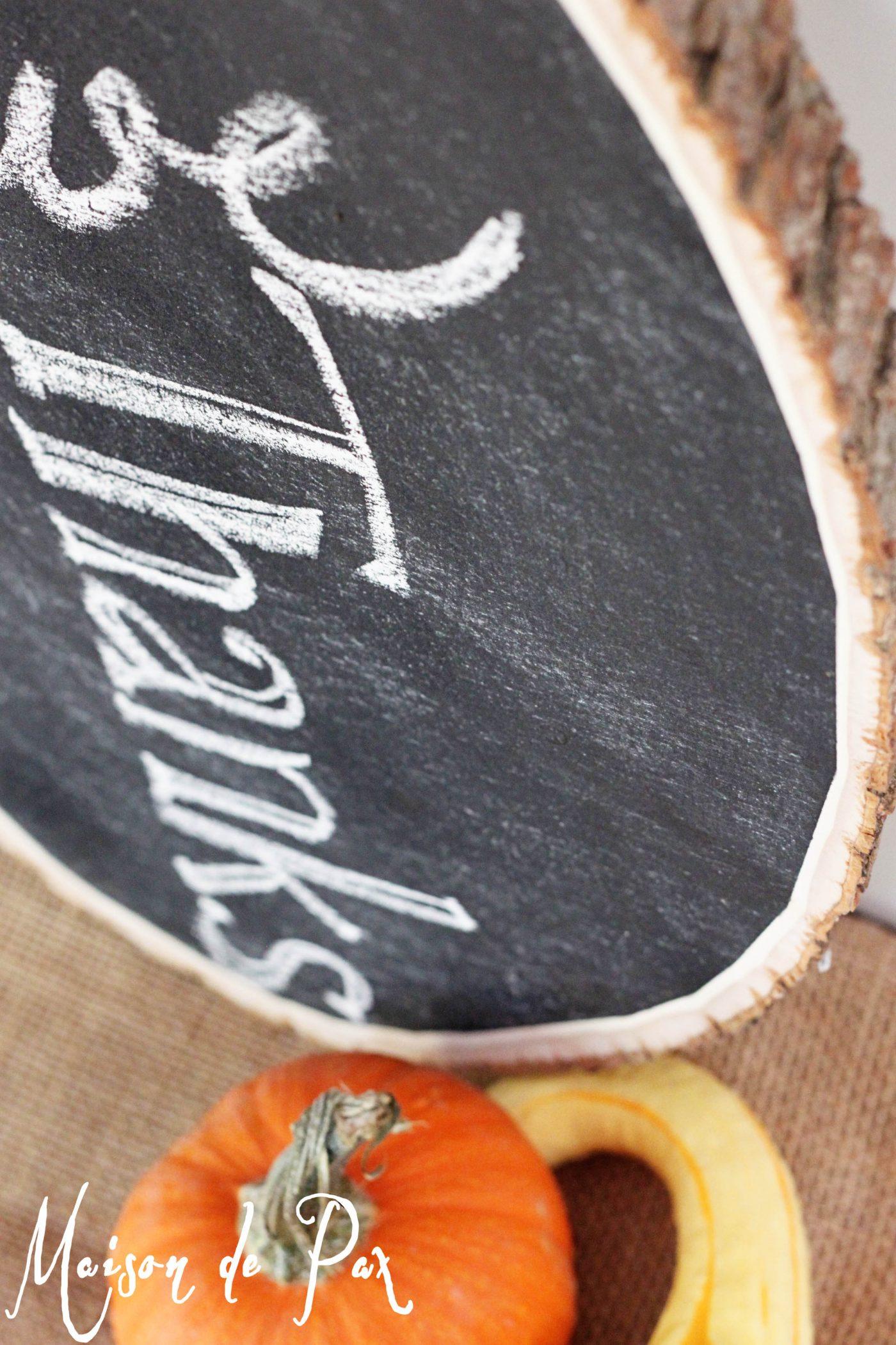 fall chalkboard vignette