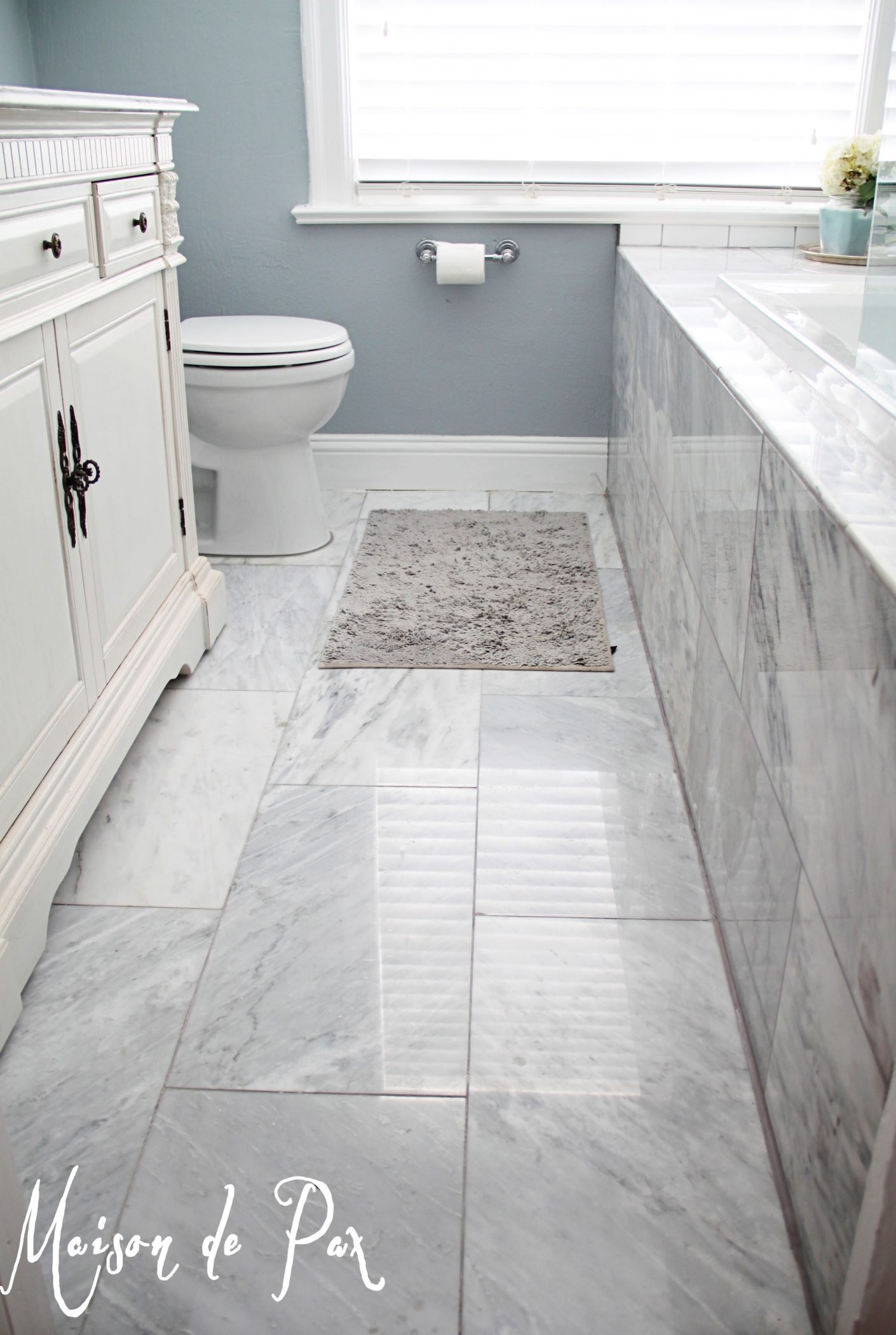 Bathroom renovations budget tips for Master bathroom flooring