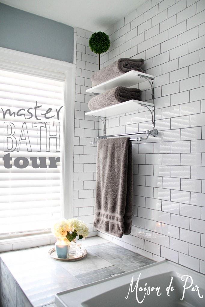 master bath tub ledge sign