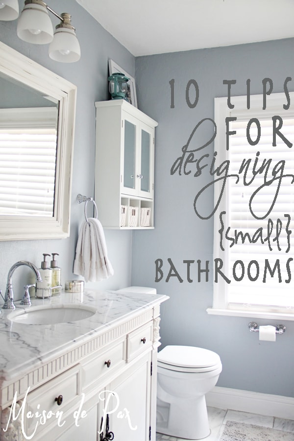 how to design a small bathroom