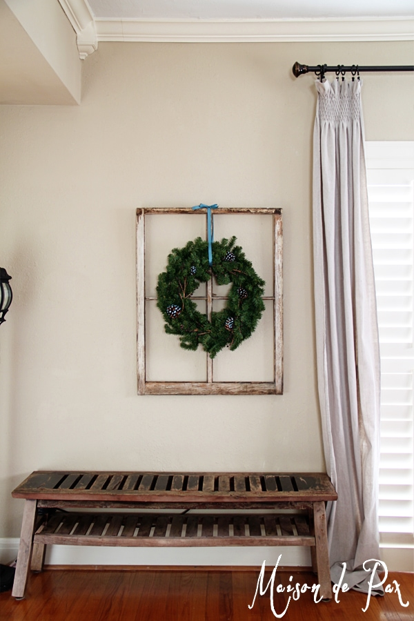 blue wreath full wall