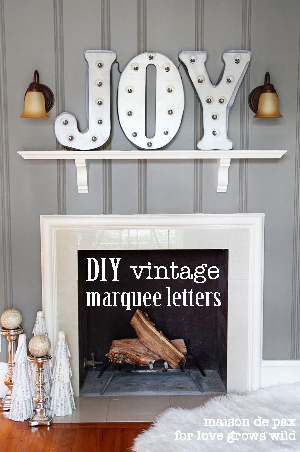 DIY vintage marquee letters