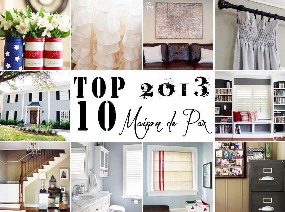 Top 10 posts of 2013 at www.maisondepax.com