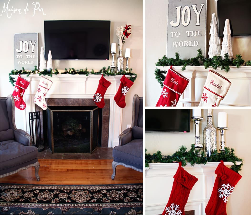 christmas tour mantel collage