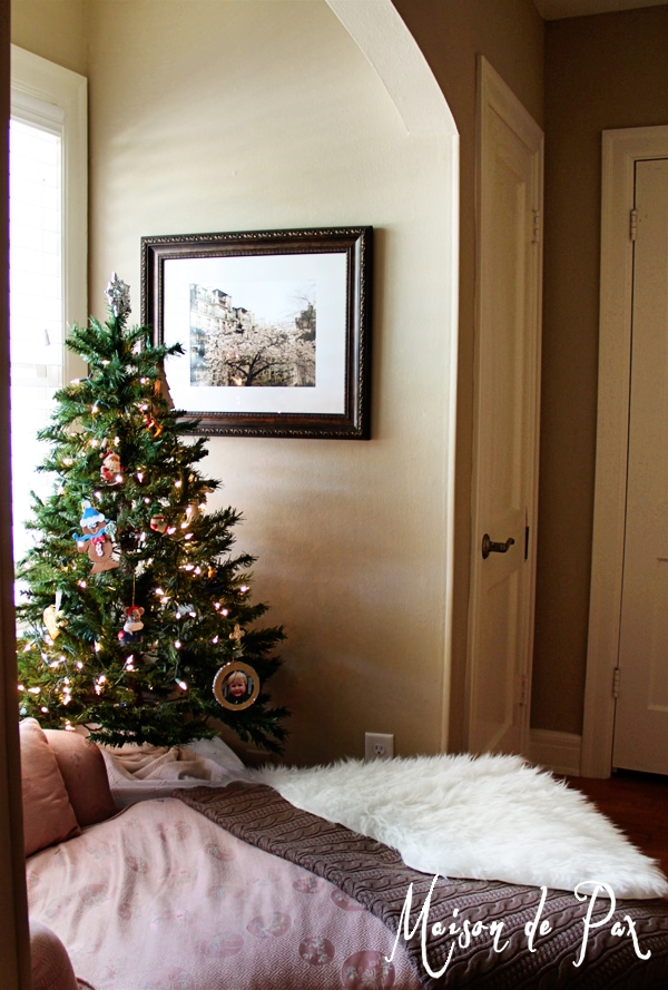 Making a place for sentimental touches at Christmas time...