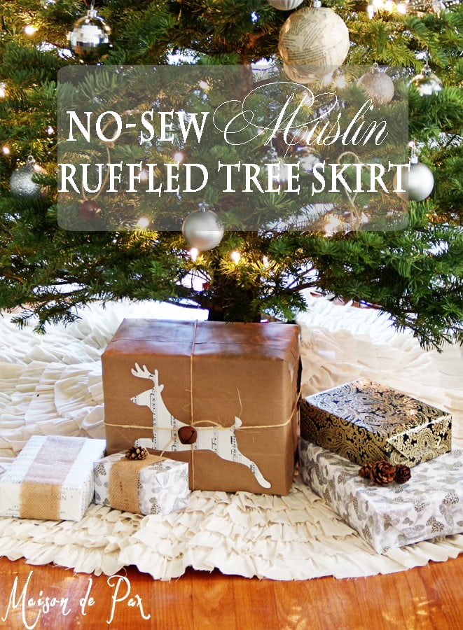 ruffled tree skirt sign