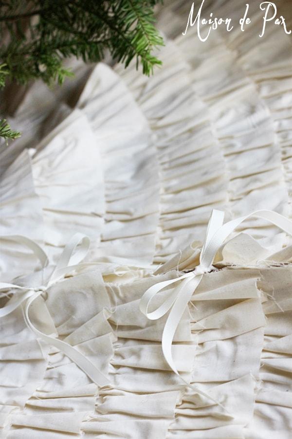 ruffled tree skirt ties