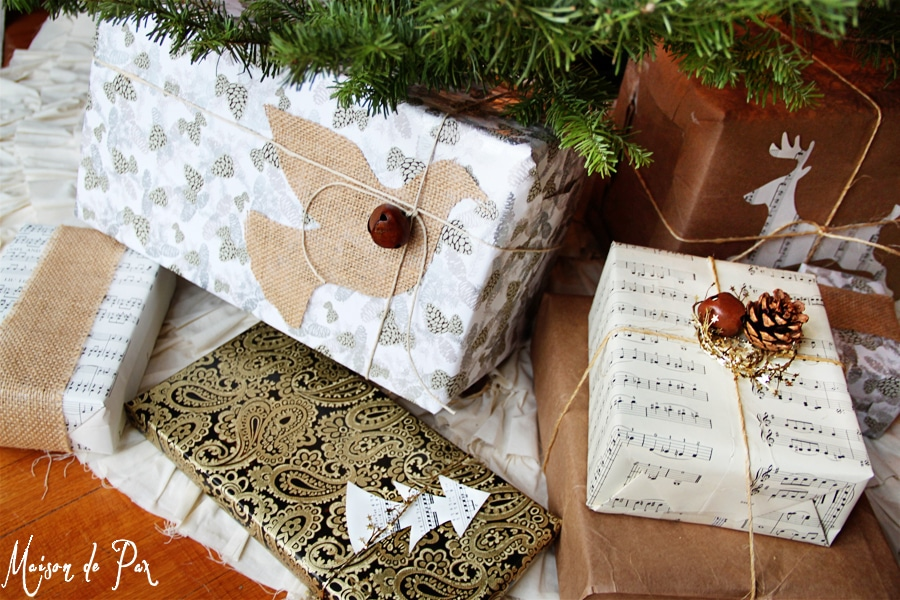 wrapped presents all