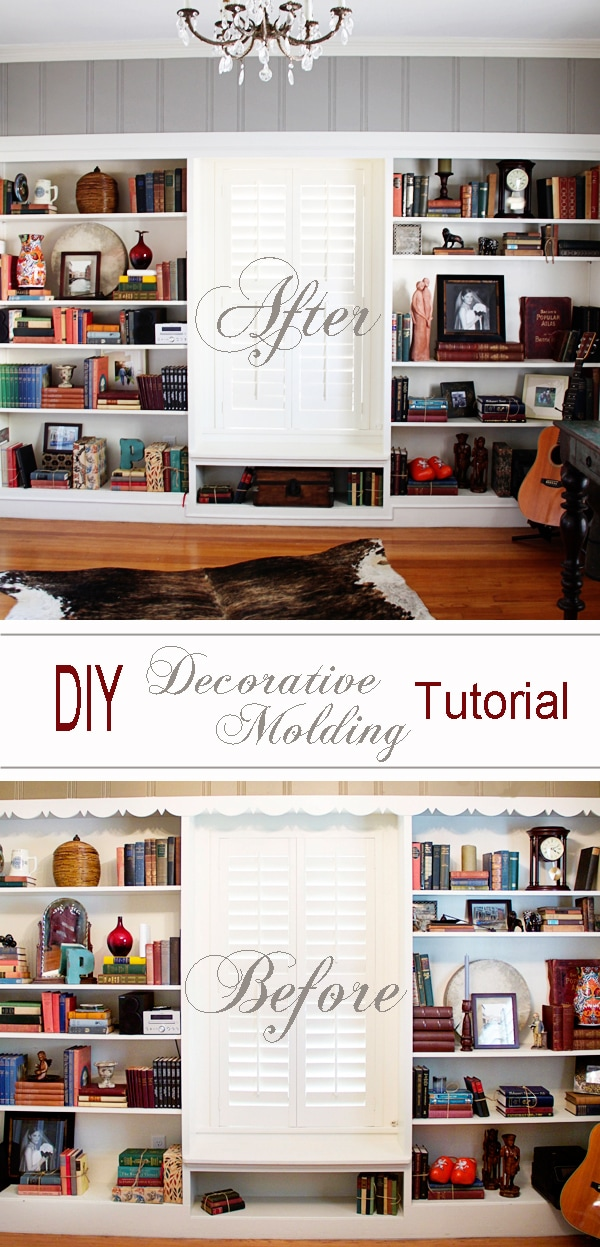 DIY decorative molding tutorial: step by step instructions for any level of experience!