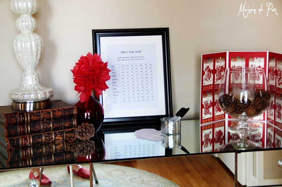 chinese new year entry table