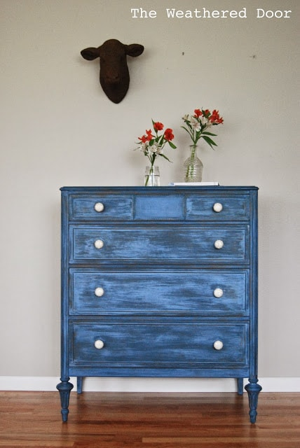 layered blue happy accident dresser WD 1