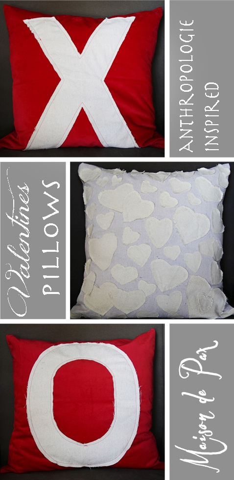 Easy tutorial for adorable Valentine's pillows