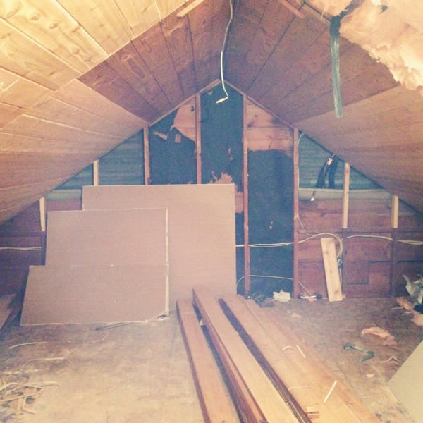 attic progress