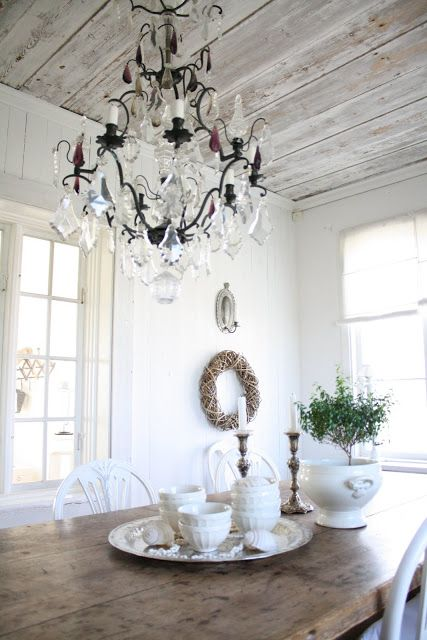 perfect light gray whitewashed ceiling