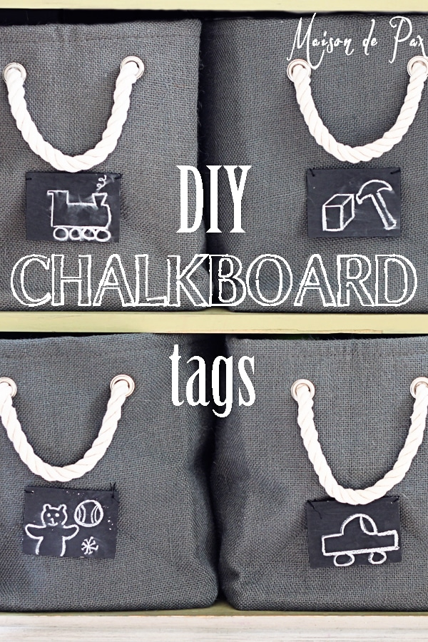 Make your own chalkboard storage labels and make clean up a breeze!