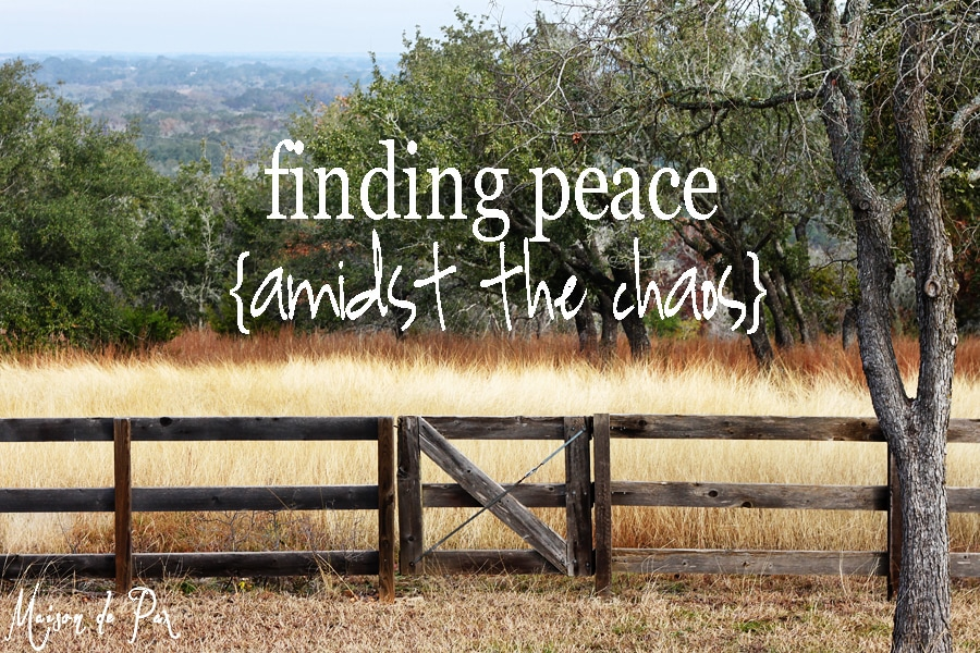 finding peace amidst the chaos