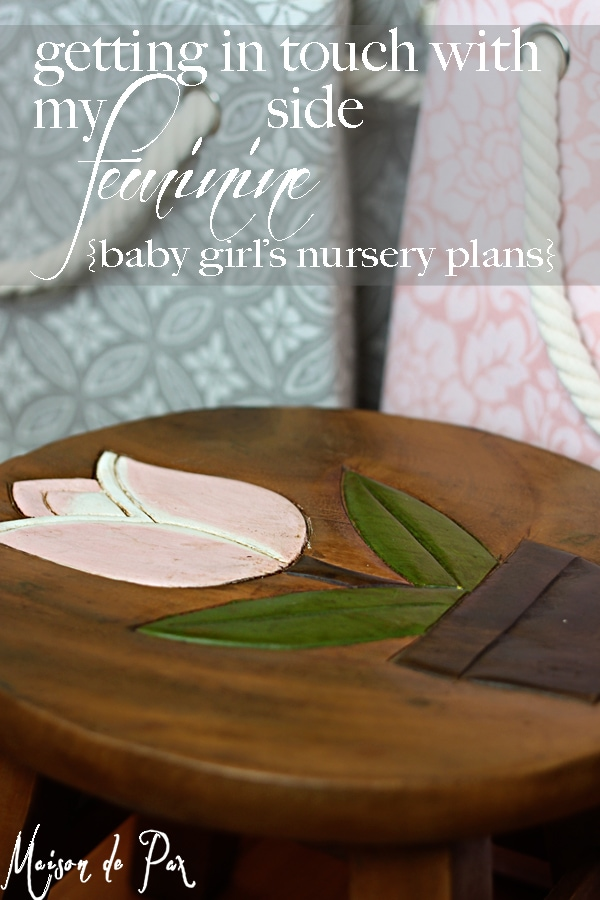 inspiration and design ideas for a girl's nursery with soft grays and touches of pink...