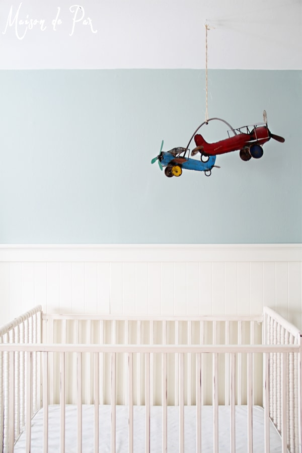 vintage airplane crib mobile full