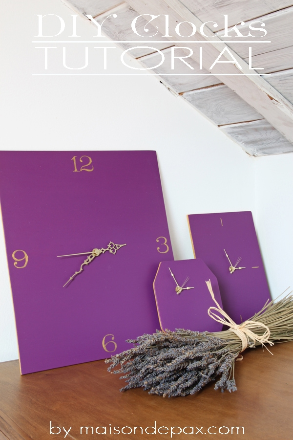 diy clocks sign