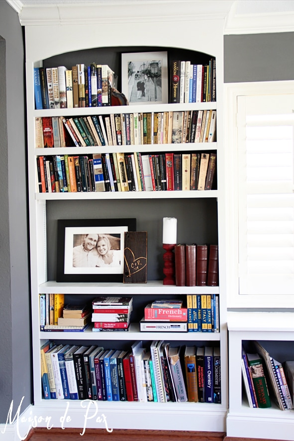 Amazing DIY built in bookcases!