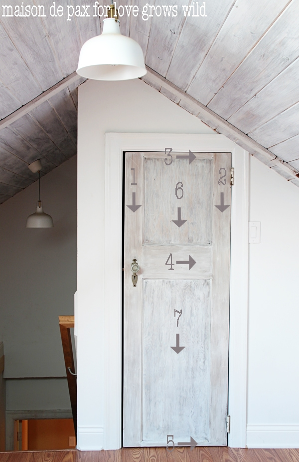 Whitewashed Door Tutorial Love Grows Wild