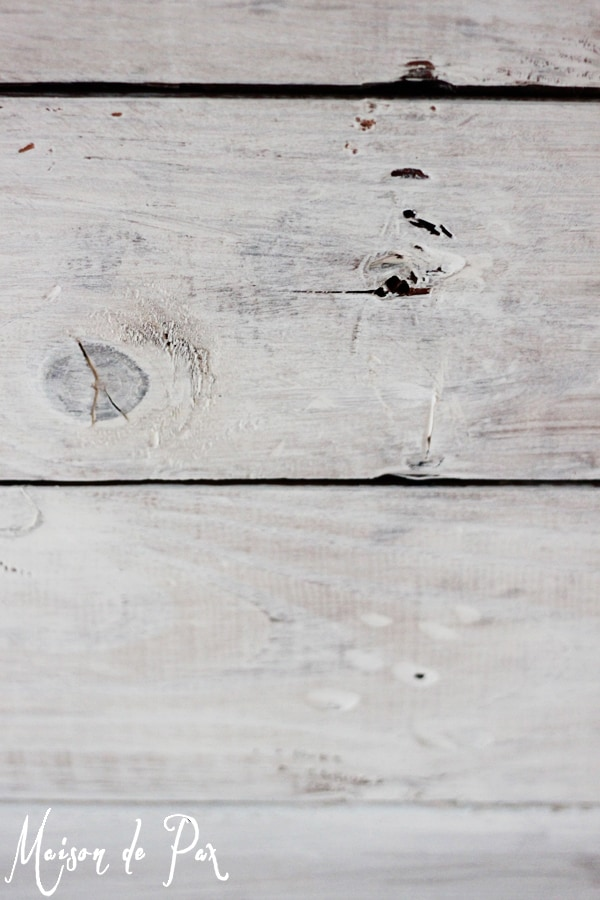 whitewashed planks close