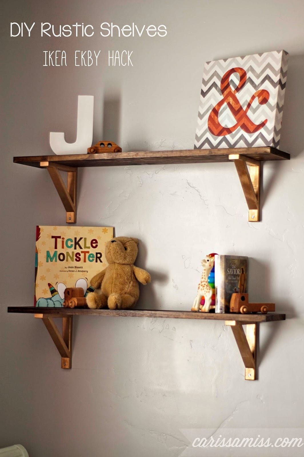 DIY Bracket Shelves