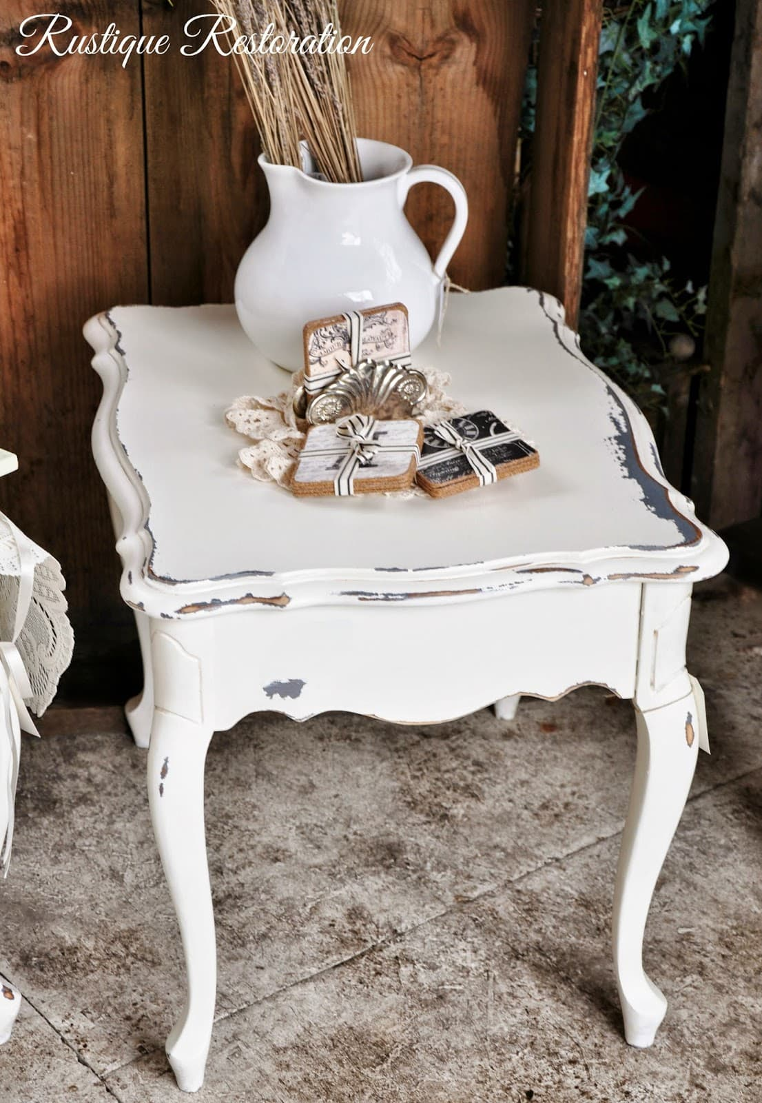 French Chippy Side Table