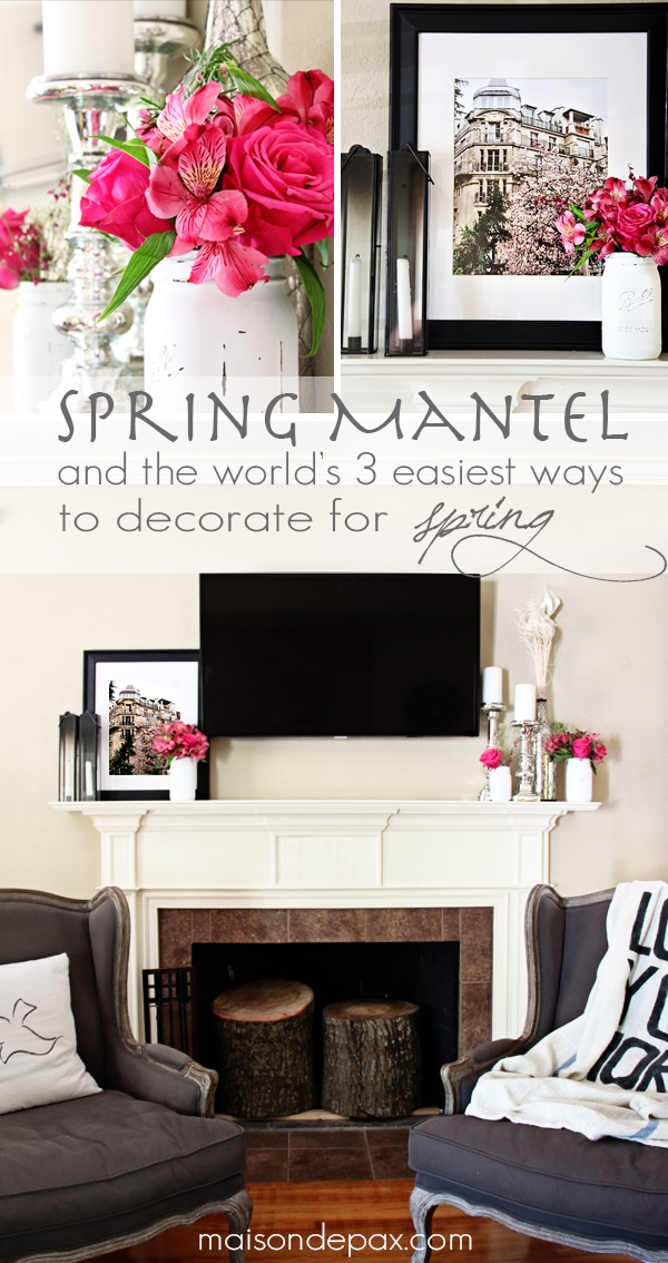 Click through for 3 brilliant and time-efficient ways to liven up your home for the season!  maisondepax.com