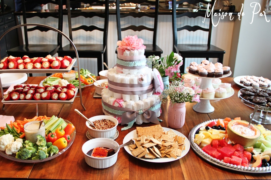 A springtime barbeque baby shower maison de pax for Baby shower bbq decoration ideas