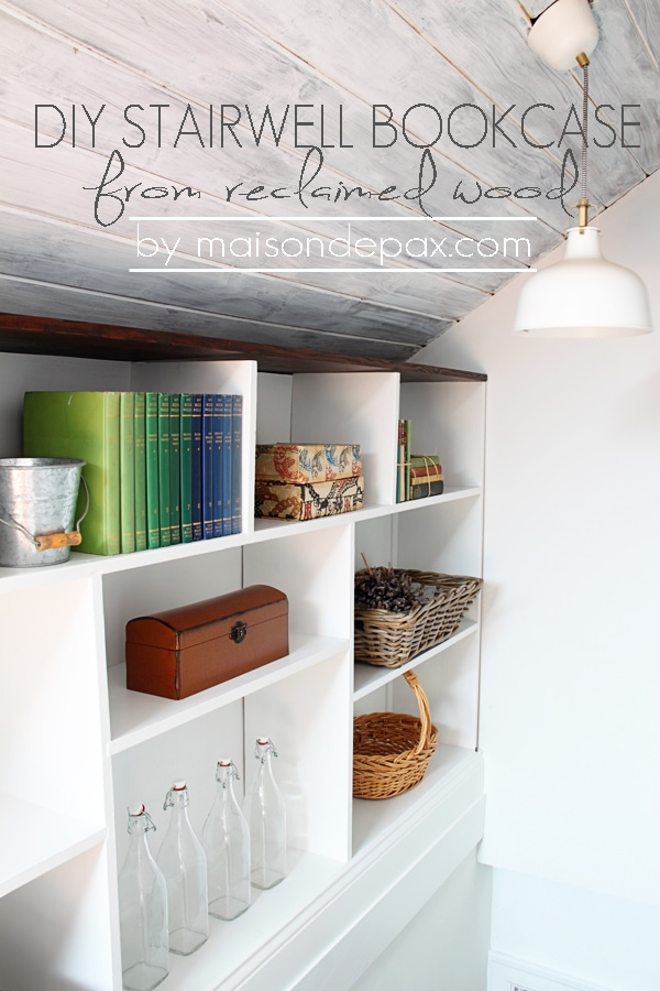 great use of space! bookcase in the stairwell | maisondepax.com