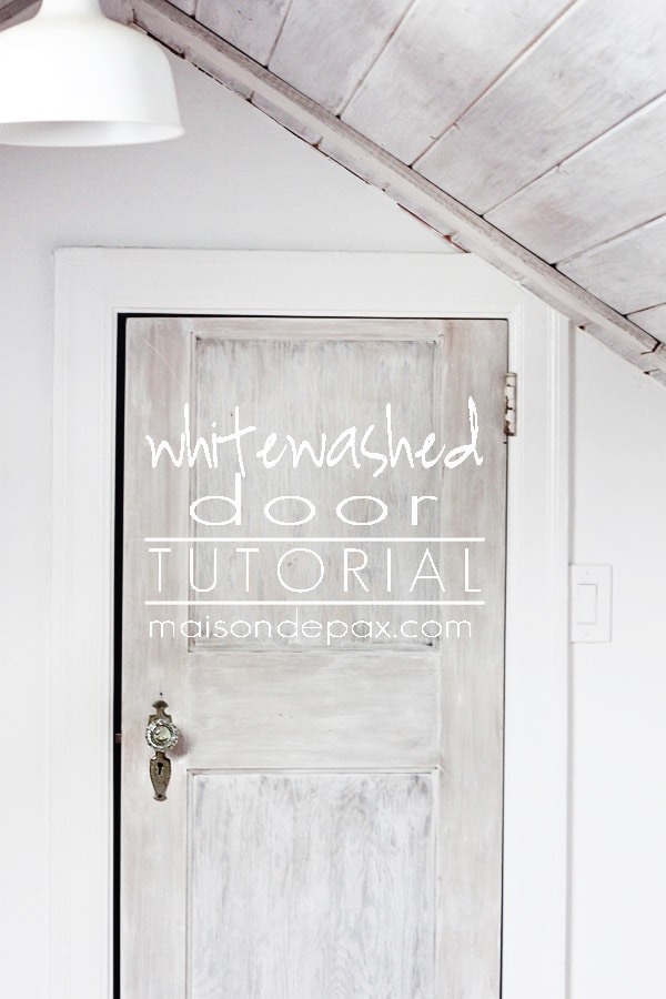 Don't miss this step-by-step tutorial for creating a gorgeous, textured, whitewashed door at maisondepax.com