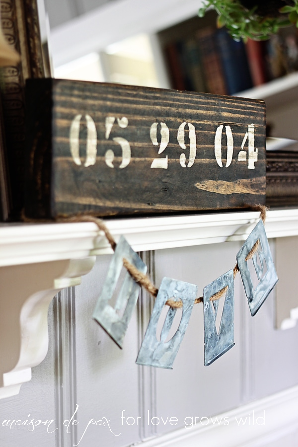 Create your own rustic wooden sign to celebrate an anniversary, birthday, or any other special occasion.  Get the full tutorial on this easy DIY painted sign.