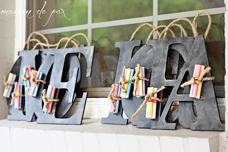 Find ideas for crafts, food, party favors, and more to celebrate your next party with an adorable chalkboard theme at maisondepax.com! #birthday #kids #diy # budget