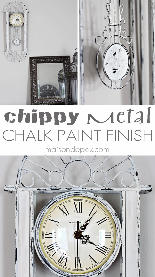 Find out how to create a chipped, aged look on metal using chalk paint at maisondepax.com