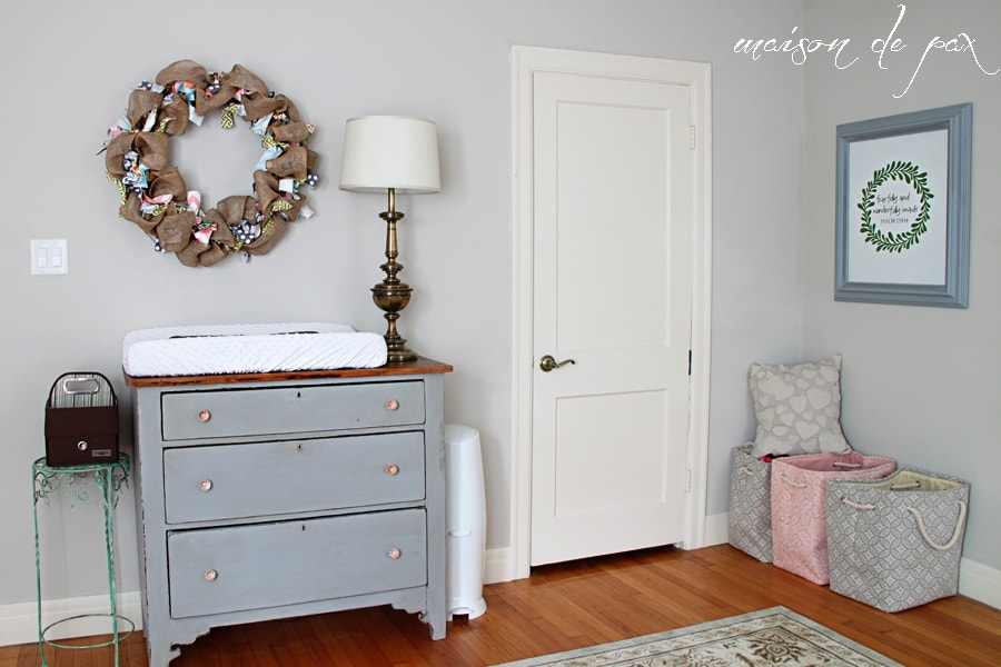 Baby Girl's Nursery Reveal - Maison de Pax | 900 x 600 jpeg 386kB