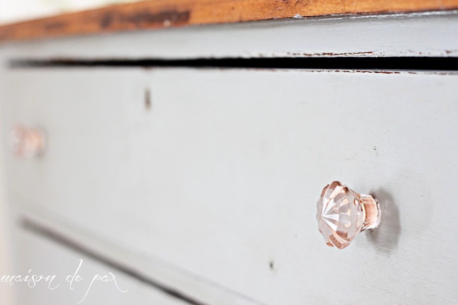 Gorgeous Gray Farmhouse Dresser Makeover Using Country Chic Paint In Pebble Beach At Maisondepax