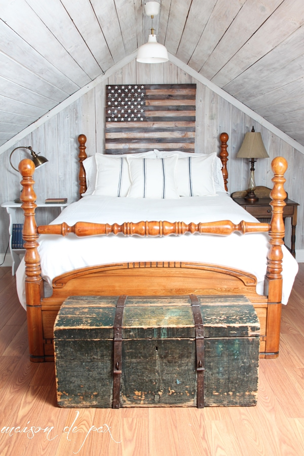 gorgeous attic makeover at maisondepax.com