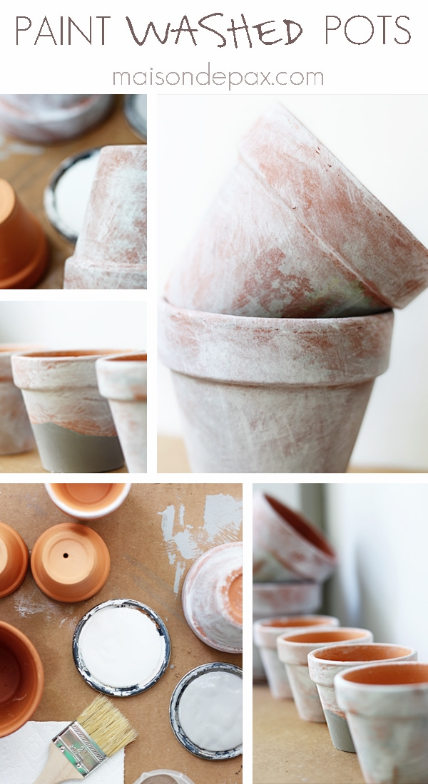 Create your own aged patina on terra cotta pots with this simple tutorial at maisondepax.com