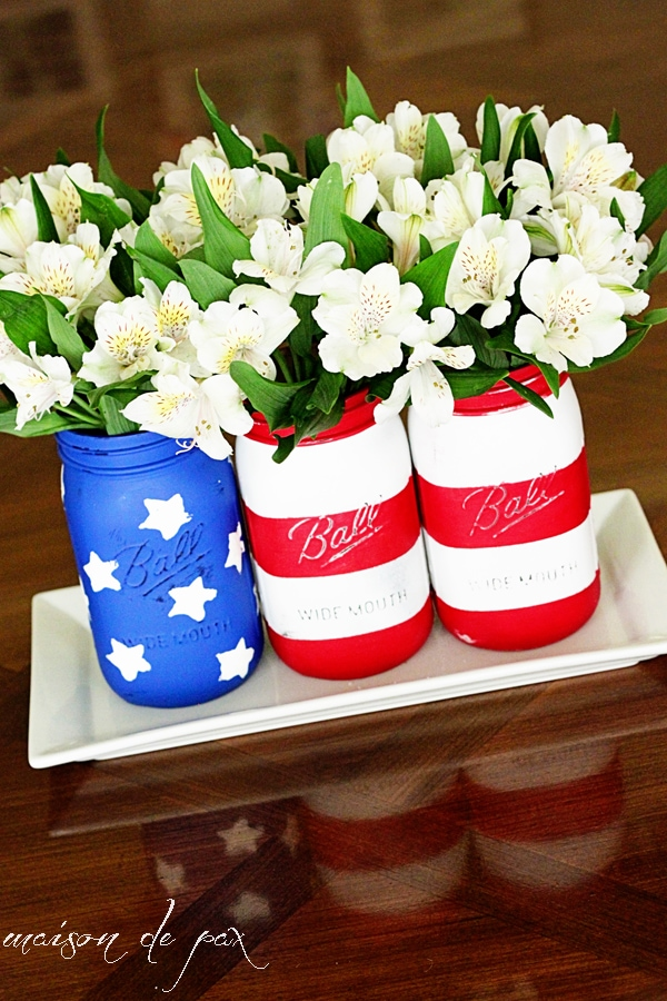 Patriotic decor home tour maison de pax for American flag decoration